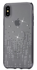 Devia Crystal Meteor Case for iPhone Xs - Transparent/Black