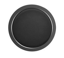 Rock W4 PRO Wireless Charger Aluminium & Leather - Black