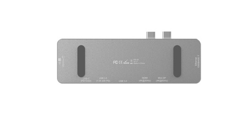 LMP USB-C Compact Dock 8 Ports - Silver