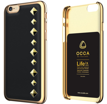 Occa Stark Leather Collection for iphone 6/6S - Black
