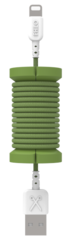 Philo Spool Lightning Cable 1m - Military Green