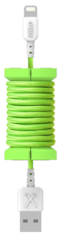 Philo Spool Lightning Cable 1m - Neon Green