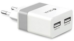 Devia Rockwall Travel Charger - White/Silver