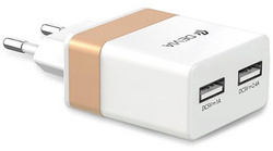 Devia Rockwall Travel Charger - White/Gold
