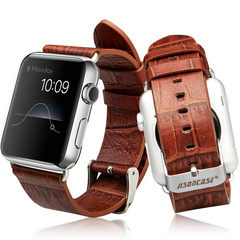 Jison Case Alligator Pattern Genuine Leather Band 38 | 40 mm - Brown