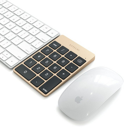 Aluminum Slim Rechargeable Bluetooth Keypad - Gold