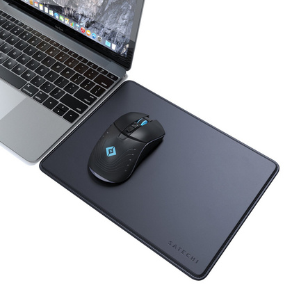 Satechi Eco-Leather Mousepad with Base Stitched Edges - Dark Blue