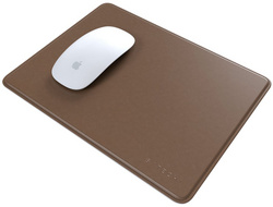 Satechi Eco-Leather Mousepad with Base Stitched Edges - Brown