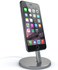 Satechi Aluminum Lightning Charging Stand - Space Grey