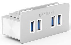 Satechi 4-Port Alumnium Clamp Hub USB 3.0 - Silver