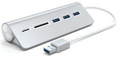 Satechi Aluminum USB 3.0 Hub & Card Reader - Silver