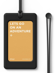 Elago Luggage Tag - Black