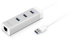 Macally 3-Port USB 3.0 Hub with Gigabit Ethernet