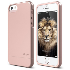 Elago S5 Glide Case with Extra Bottom Clip for iPhone 5/5s/SE - Rose Gold