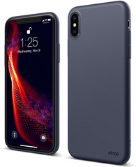 Elago Slim Fit Case for iPhone Xs - Jean Indigo