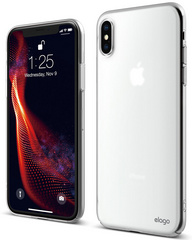 Elago Slim Fit Case for iPhone Xs - Soft Feeling Crystal Clear
