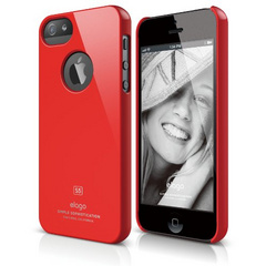 Elago S5 Slim Fit Case for iPhone 5/5s/SE - Extreme Hot Red