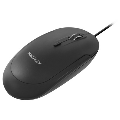 Macally USB Optical Quiet Click Mouse - Black