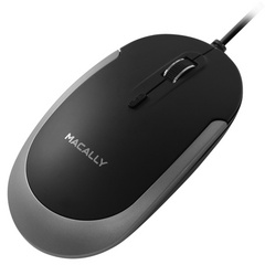 Macally USB-C Optical Quiet Click Mouse - Space gray