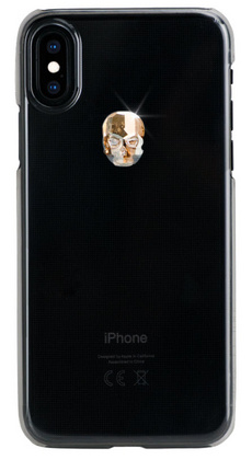 BMT Treasure Clear Gold Skull case for iPhone Xs Max