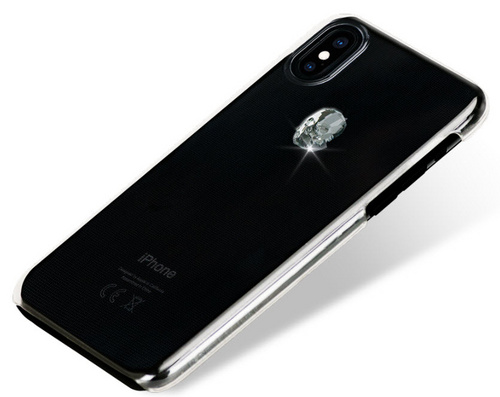 BMT Treasure Clear Silver Skull case for iPhone X/Xs