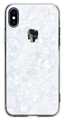 BMT Treasure White Jet Skull case for iPhone X/Xs