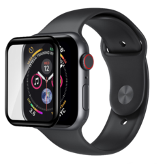Devia 3D Curved Glass with Black Border for Apple Watch