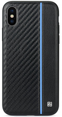 Meleovo Carbon Case for iPhone X/Xs - Blue Line
