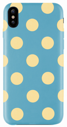 JT Legend Polka Case for iPhone X/Xs - Banana Lagoon