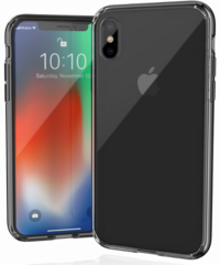 JT Legend Hybrid Cushion Basic Case for iPhone X/Xs - Transparent with black corners