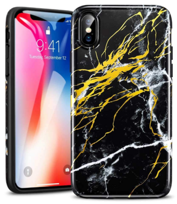 ESR Marble Slim TPU Series for iPhone X - Black
