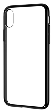Devia Glimmer Case for iPhone Xs Max - Transparent with black frame (without packaging)