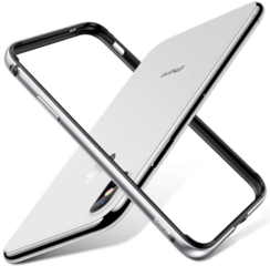 ESR Crown Metal Bumper Case for iPhone X/Xs - Silver