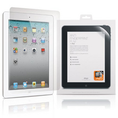 Elago HD Anti-Finger Print FilmSet for iPad2/Retina + Microfiber Cleaner
