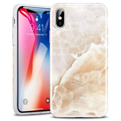ESR Marble Slim Soft Case for iPhone X/Xs - Beige