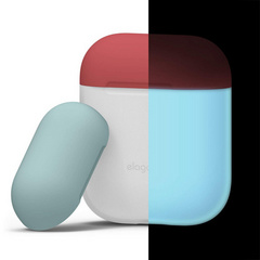 Elago Airpods Silicone Case - Nightglow with Italian Rose/Coral top