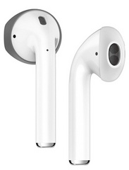 Elago Airpods Secure Fit Cover - Dark Gray/White
