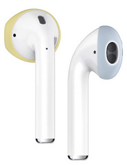Elago Airpods Secure Fit Cover - Yellow/Pastel Blue