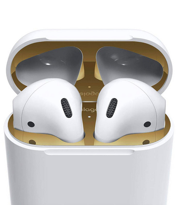 Elago Airpods Dust Guard - Gold with 18K Gold Plating (2 sets)