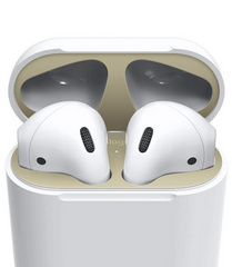 Elago Airpods Dust Guard - Matt Gold with 18K Gold Plating (2 sets)