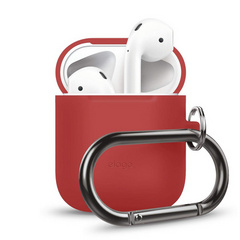 Elago Airpods Silicone Hang Case - Red
