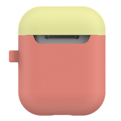 LabC Airpods Silicone Duo Hang Case - Coral/Lemon/Blue