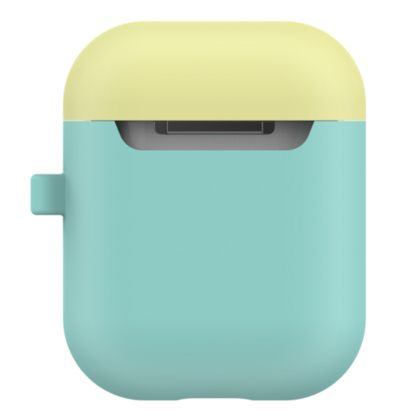 LabC Airpods Silicone Duo Hang Case - Green/Coral/Lemon