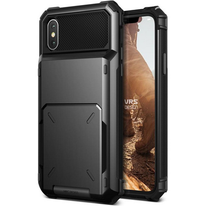 Verus Damda Folder Series case for iPhone X/Xs - Metal Black