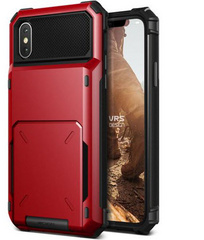 Verus Damda Folder Series case for iPhone X/Xs - Red