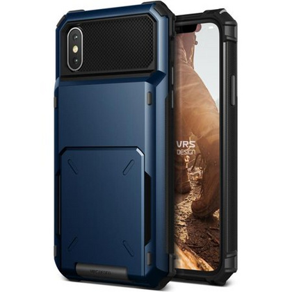 Verus Damda Folder Series case for iPhone X/Xs - Deep Sea Blue