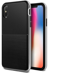 Verus High Pro Shield Series case for iPhone X/Xs - Black Silver