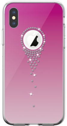 Devia Angel Tears Series Crystal Case for iPhone X - Pink