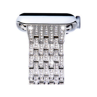 COTEETCI W4 Crystal- encrusted Stainless Steel Watch Band