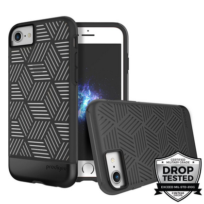 Prodigee Stencil case for iPhone 6/6s/7 - Black